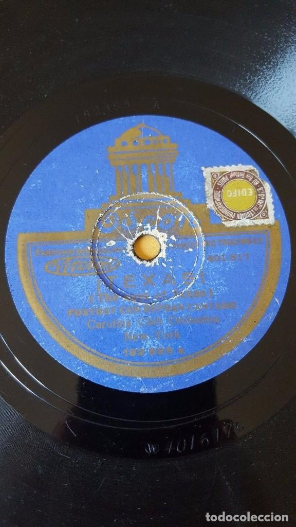 DISCO 78 RPM - ODEON - CAROLINA CLUB - SOUTHERN MELODY - ORQUESTAS - TEXAS - ANGELA MIA - PIZARRA (Música - Discos - Pizarra - Jazz, Blues, R&B, Soul y Gospel)