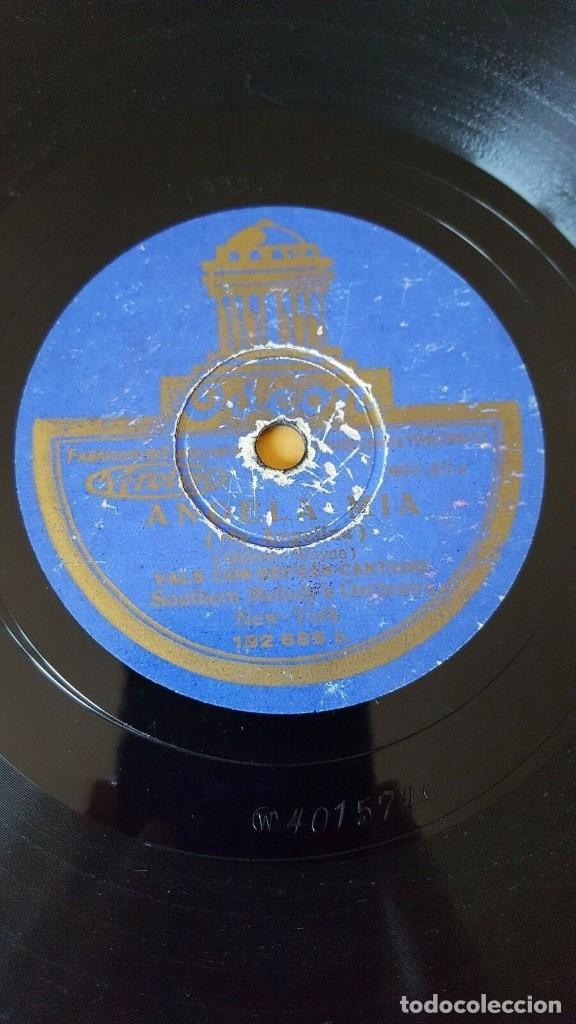 Discos de pizarra: DISCO 78 RPM - ODEON - CAROLINA CLUB - SOUTHERN MELODY - ORQUESTAS - TEXAS - ANGELA MIA - PIZARRA - Foto 2 - 186817015