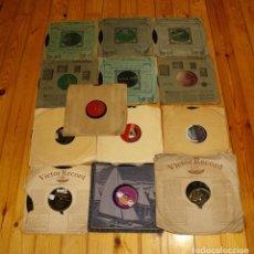 Discos de pizarra: 13 DISCOS DE PIZARRA. Lote 168873712