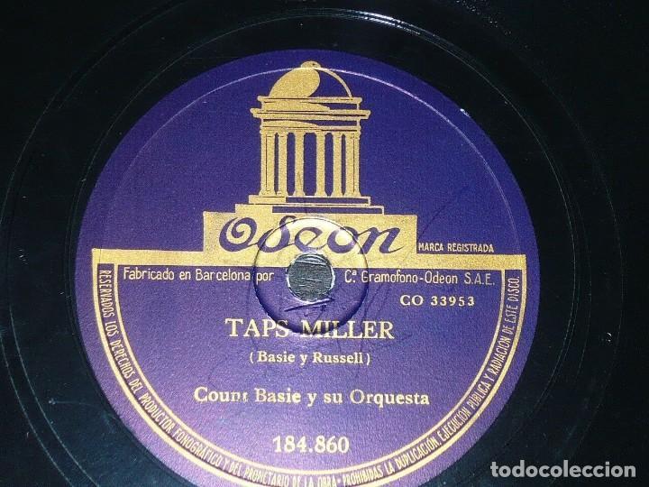 DISCO 78 RPM - ODEON - COUNT BASIE - ORQUESTA - TAPS MILLER - TECLADO AL ROJO - JAZZ - PIZARRA (Música - Discos - Pizarra - Jazz, Blues, R&B, Soul y Gospel)