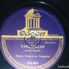 Discos de pizarra: DISCO 78 RPM - ODEON - COUNT BASIE - ORQUESTA - TAPS MILLER - TECLADO AL ROJO - JAZZ - PIZARRA. Lote 186847696