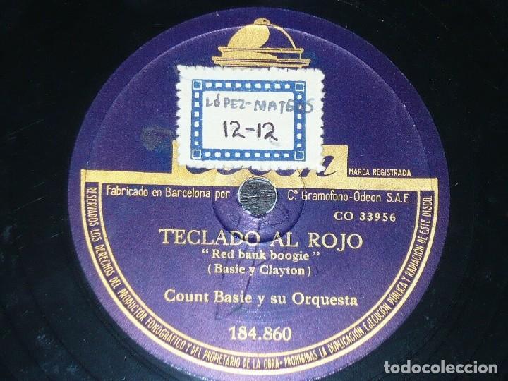 Discos de pizarra: DISCO 78 RPM - ODEON - COUNT BASIE - ORQUESTA - TAPS MILLER - TECLADO AL ROJO - JAZZ - PIZARRA - Foto 2 - 186847696