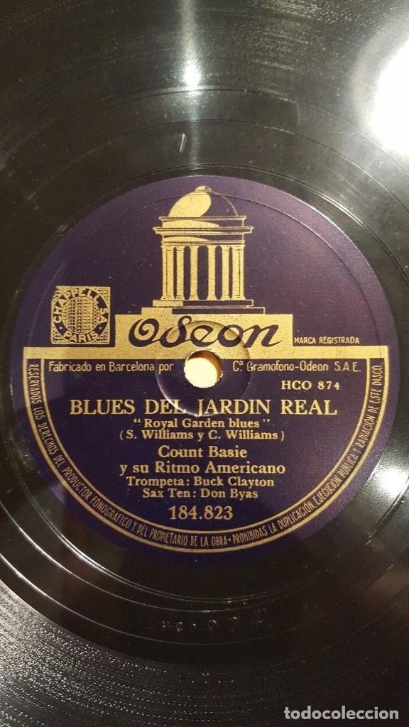 DISCO 78 RPM - ODEON - COUNT BASIE - ORQUESTA - BLUES DEL JARDIN REAL - THE JITTERS - JAZZ - PIZARRA (Música - Discos - Pizarra - Jazz, Blues, R&B, Soul y Gospel)