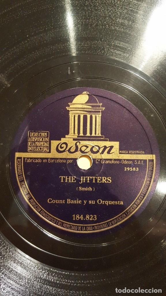 Discos de pizarra: DISCO 78 RPM - ODEON - COUNT BASIE - ORQUESTA - BLUES DEL JARDIN REAL - THE JITTERS - JAZZ - PIZARRA - Foto 2 - 186869805