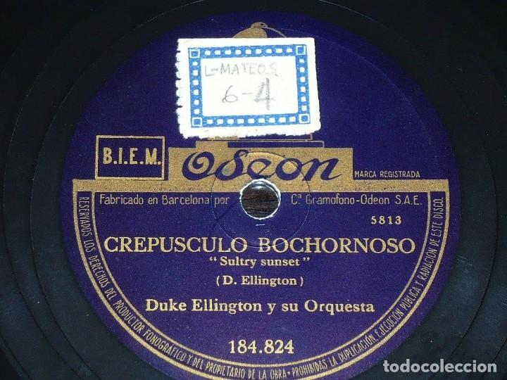 DISCO 78 RPM - ODEON - DUKE ELLINGTON - CREPUSCULO BOCHORNOSO - JAM A DITTY - JAZZ - PIZARRA (Música - Discos - Pizarra - Jazz, Blues, R&B, Soul y Gospel)