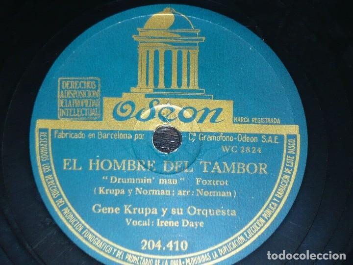 DISCO 78 RPM - ODEON - GENE KRUPA - EL HOMBRE DEL TAMBOR - TUXEDO JUNCTION - FOXTROT - PIZARRA (Música - Discos - Pizarra - Jazz, Blues, R&B, Soul y Gospel)