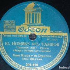 Discos de pizarra: DISCO 78 RPM - ODEON - GENE KRUPA - EL HOMBRE DEL TAMBOR - TUXEDO JUNCTION - FOXTROT - PIZARRA. Lote 187047020
