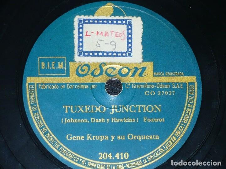 Discos de pizarra: DISCO 78 RPM - ODEON - GENE KRUPA - EL HOMBRE DEL TAMBOR - TUXEDO JUNCTION - FOXTROT - PIZARRA - Foto 2 - 187047020