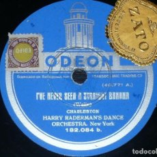 Discos de pizarra: DISCO 78 RPM - ODEON - HARRY RADERMAN´S DANCE ORCHESTRA - CHARLESTON - HALLELUJAH - PIZARRA. Lote 187161891