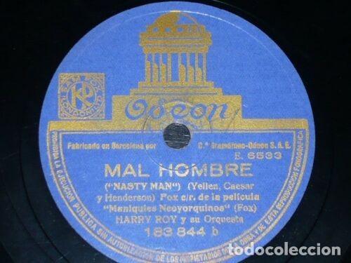 Discos de pizarra: DISCO 78 RPM - ODEON - HARRY ROY - ORQUESTA - MI PERRO QUIERE AL TUYO - MAL HOMBRE - JAZZ - PIZARRA - Foto 2 - 187163535