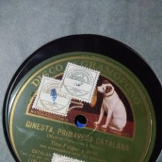 Discos de pizarra: DISCO DE PIZARRA : TINO FOLGAR Y CORO : LA SANTA ESPINA + GINESTA, PRIMAVERA CATALANA. Lote 187386471