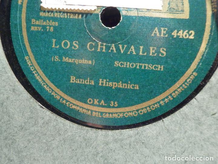 Discos de pizarra: Disco de Pizarra - La voz de su Amo - AE 4462 - Noche de Ronda - Los Chavales - Banda Hispánica - - Foto 2 - 187629508