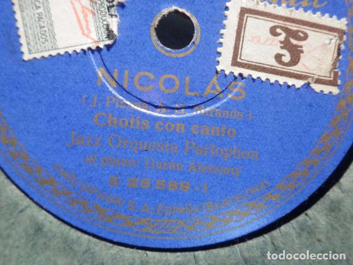 Discos de pizarra: Disco Pizarra Parlophon B 25589 - Vaya Verónicas - Nicolás - Orquesta Parlophon - Foto 2 - 187631222