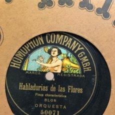 Discos de pizarra: DISCO PIZARRA HABLADURIAS DE LAS FLORES -. Lote 189354942
