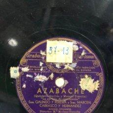 Discos de pizarra: DISCO PIZARRA AZABACHE SRAS. GALINDO Y PEREIRA Y SRES MARCEN CARRASCO Y HERNANDEZ. Lote 189356131