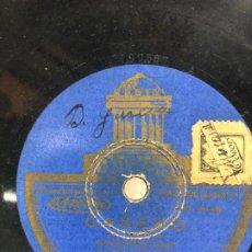 Discos de pizarra: DISCO PIZARRA CAÑERO - PASODOBLE CAÑI - BANDA ODEON. Lote 189367252