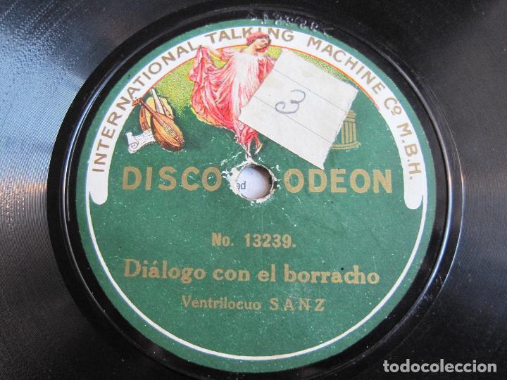 Discos de pizarra: DISCO DE PIZARRA VENTRILOCUO SANZ ESCENA DEL AUTOMATA PEPITO 78 RPM ODEON 13236 - Foto 2 - 189396881