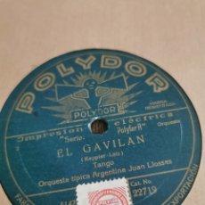 Discos de pizarra: DISCO DE PIZARRA EL GAVILÁN. RINCONCITO. Lote 189808511