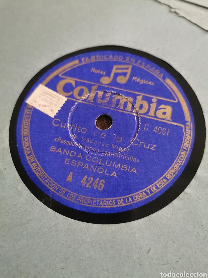 DISCO DE PIZARRA LA MACARENA. CURRITO DE LA CRUZ (Música - Discos - Pizarra - Flamenco, Canción española y Cuplé)
