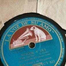 Discos de pizarra: DISCO DE PIZARRA NOCHE Y DÍA. Lote 189814632