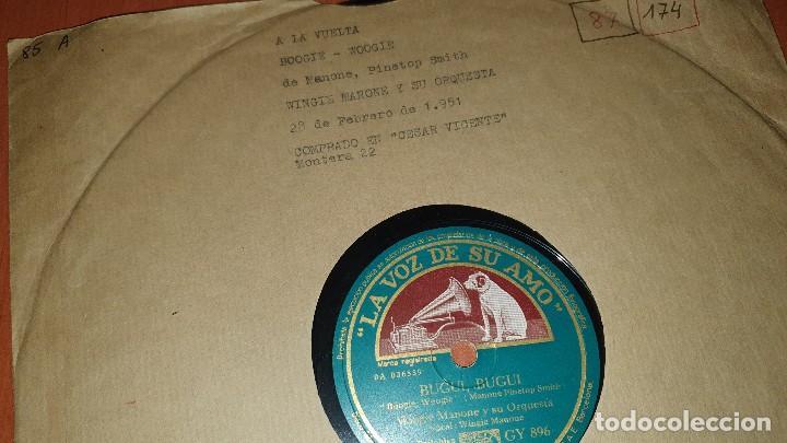 Discos de pizarra: Wingie manone y su orquesta, bugui, bugi y no tengo a nadie, la voz de su amo - Foto 2 - 190064876