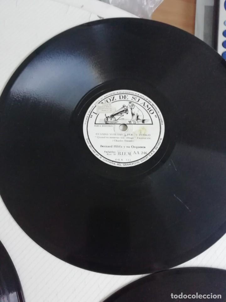 Discos de pizarra: Discos en bakelita con música de los años 30 Cinco unidades - Foto 2 - 190218441