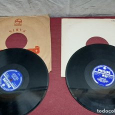 Discos de pizarra: LOTE 2 DISCOS PIZARRA PHILIPS... . Lote 191119102