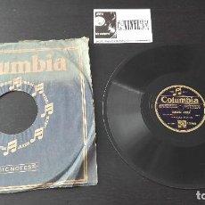 Discos de pizarra: HONOLULU PLAYERS / KING'S HAWAIIANS– LEILEHUA / KAMEHAMEHA WALTZ COLUMBIA – 13446 MUSICA HAWAIANA. Lote 191238983