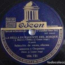 Discos de pizarra: LA BELLA DURMIENTE - SELECCIÓN DE VOCES, EFECTOS SONOROS, DIR. J. CASAS AUGE . Lote 191301010