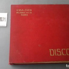 Discos de pizarra: CLASIFICADOR PARA DISCOS DE PIZARRA DE 10 PULGADAS CASA ZATO CON 10 DISCOS DENTRO. TANGO, BOLERO, ... Lote 191357431