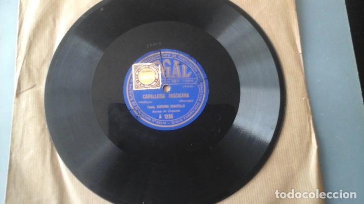 DISCO DE PIZARRA 10 PULGADAS CAVALLERIA RUSTICANA POR GIOVANNI ZENATELLO , CON LA FIRMA GRABADA. (Música - Discos - Pizarra - Clásica, Ópera, Zarzuela y Marchas)