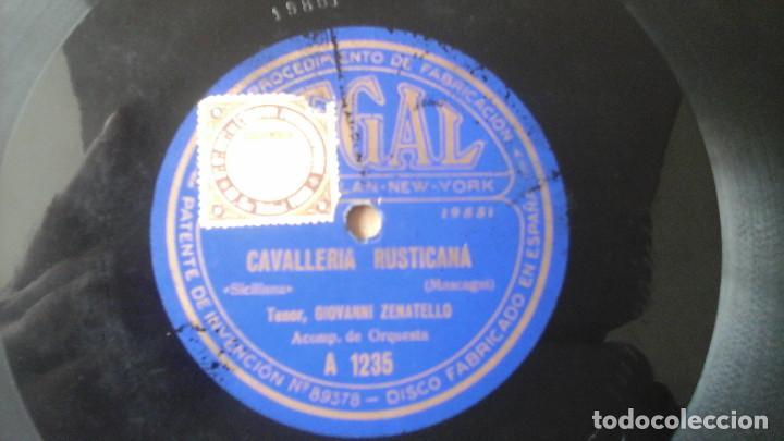 Discos de pizarra: Disco de Pizarra 10 pulgadas Cavalleria Rusticana por Giovanni Zenatello , con la firma grabada. - Foto 2 - 191359086