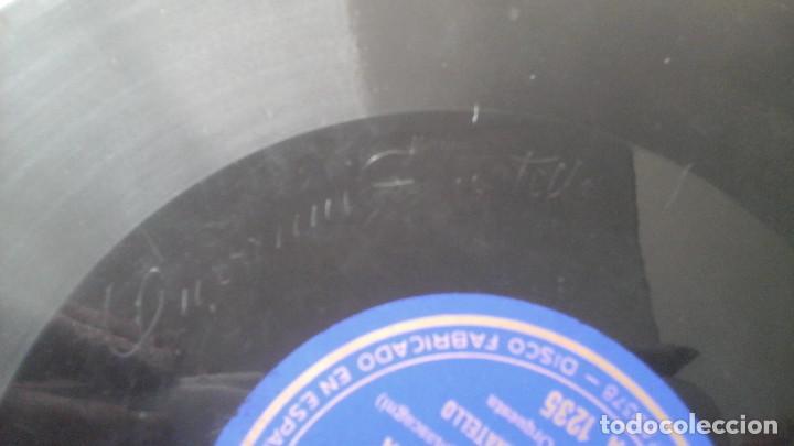 Discos de pizarra: Disco de Pizarra 10 pulgadas Cavalleria Rusticana por Giovanni Zenatello , con la firma grabada. - Foto 3 - 191359086