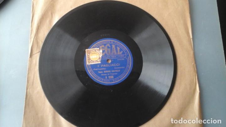 Discos de pizarra: Disco de Pizarra 10 pulgadas Cavalleria Rusticana por Giovanni Zenatello , con la firma grabada. - Foto 4 - 191359086