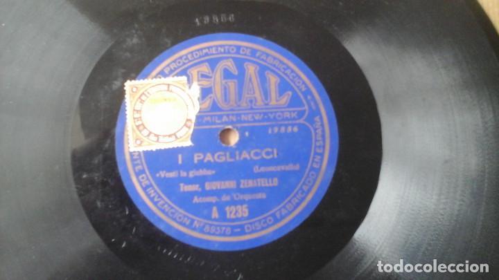 Discos de pizarra: Disco de Pizarra 10 pulgadas Cavalleria Rusticana por Giovanni Zenatello , con la firma grabada. - Foto 5 - 191359086
