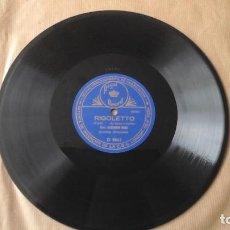 Discos de pizarra: DISCO PIZARRA COLUMBIA. 25,5 CM. RIGOLETTO POR A. BONCI, CON FIRMA GRABADA. GRAN PREMIO MILAN 1906. Lote 191359212