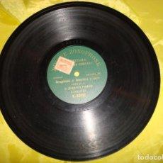 Discos de pizarra: JUANITO PARDO. ARAGONESA Y FEMATERA Y FIERA. DISQUE ZONOPHONE. MONOFACIALES . PIZARRA (#). Lote 191512068