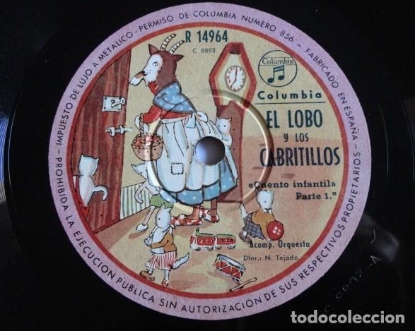 EL LOBO Y LOS CABRITILLOS, CUENTO INFANTIL - COLUMBIA R 14964 (Música - Discos - Pizarra - Bandas Sonoras y Actores )