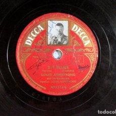 Discos de pizarra: 219 BLUES / PERDIDO SREET BLUES. LOUIS ARMSTRONG. DECCA. 78 RPM. Lote 191559000