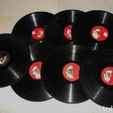 Discos de pizarra: LOTE DE DISCOS DE PIZARRA.. Lote 191587220