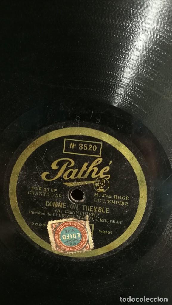 Discos de pizarra: DISCOS DE PIZARRA PATHE DE 30 CM. 5 UNIDADES. BUEN ESTADO, VER FOTOS Y TITULOS - Foto 3 - 191779537
