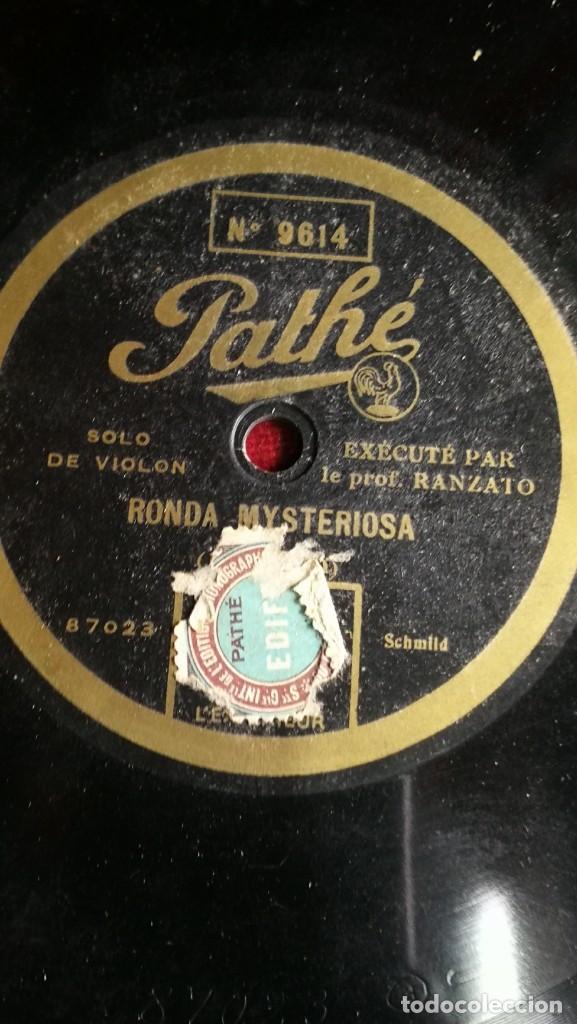 Discos de pizarra: DISCOS DE PIZARRA PATHE DE 30 CM. 5 UNIDADES. BUEN ESTADO, VER FOTOS Y TITULOS - Foto 5 - 191779537