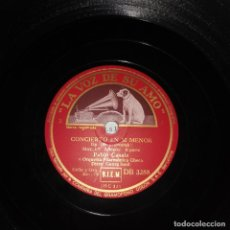 Discos de pizarra: CONCIERTO EN SI MENOR MOVIMIENTO ALLEGRO I Y II PARTE PABLO CASALS Y ORQUESTA FILARMONICA CHECA. Lote 192329051