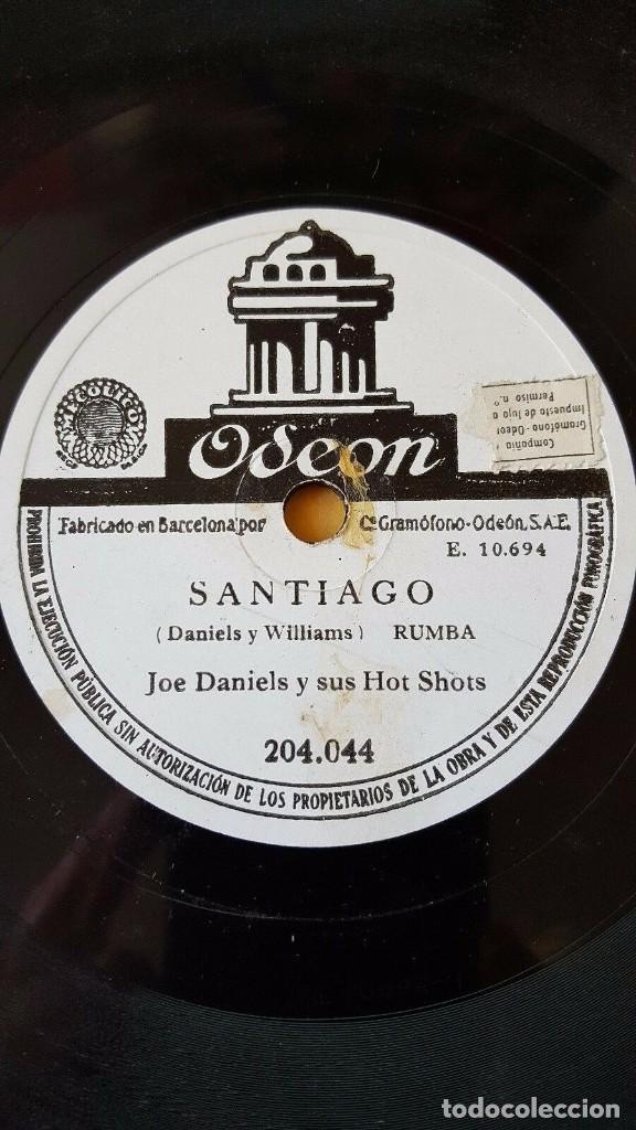 DISCO 78 RPM - ODEON - JOE DANIELS - HOT SHOTS - FOXTROT - SANTIAGO - JAZZ - PIZARRA (Música - Discos - Pizarra - Jazz, Blues, R&B, Soul y Gospel)