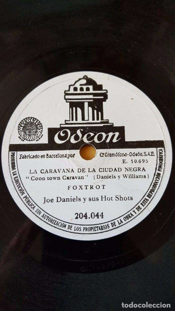 Discos de pizarra: DISCO 78 RPM - ODEON - JOE DANIELS - HOT SHOTS - FOXTROT - SANTIAGO - JAZZ - PIZARRA - Foto 2 - 192376692