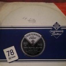 Discos de pizarra: DISCO DE PIZARRA 78RPM-MARGARET WHITING- RIVER ROAD/GOOD MORNING MR HECCO.. Lote 192537210