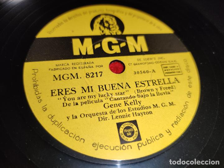 Discos de pizarra: GENE KELLY Singin in the rain/You are my lucky star 10 25 ctms MGM 8217 ESPAÑA SPAIN - Foto 2 - 192577810