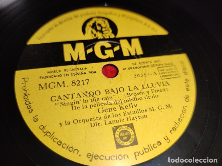 GENE KELLY SINGIN IN THE RAIN/YOU ARE MY LUCKY STAR 10'' 25 CTMS MGM 8217 ESPAÑA SPAIN (Música - Discos - Pizarra - Bandas Sonoras y Actores )