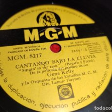 Discos de pizarra: GENE KELLY SINGIN IN THE RAIN/YOU ARE MY LUCKY STAR 10'' 25 CTMS MGM 8217 ESPAÑA SPAIN. Lote 192577810