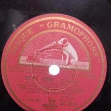 Discos de pizarra: NADIA BOULANGER AL PIANO Y SOLISTAS CON MÚSICA DE MONTEVERDI. LA VOIX DE SON MAITRE, FRANCIA. Lote 192603263